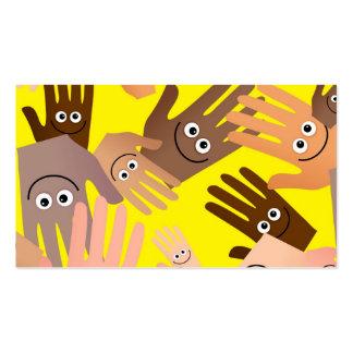 Papel de parede feliz das mãos cartões de visitas