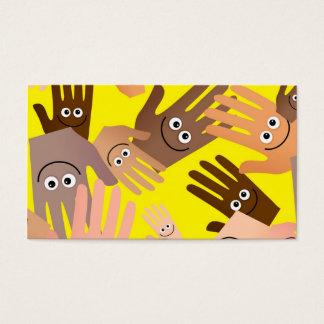 Papel de parede feliz das mãos cartão de visitas
