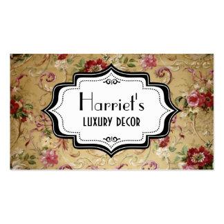 Papel de parede floral do Victorian Cartão De Visita