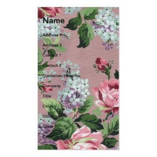 Papel de parede floral do vintage bonito cartão de visita