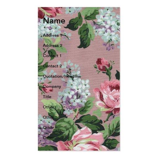 Papel de parede floral do vintage bonito modelos cartão de visita