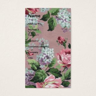 Papel de parede floral do vintage bonito cartão de visitas