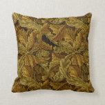 Papel de parede floral do vintage de William Morri Travesseiro De Decoração