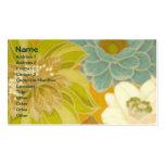 Papel de parede floral do vintage, verde de turque cartões de visitas