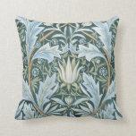 Papel de parede floral elegante de verde azul do v travesseiros de decoração