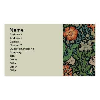 Papel de parede floral Morris na moda Compton do v Modelos Cartão De Visita