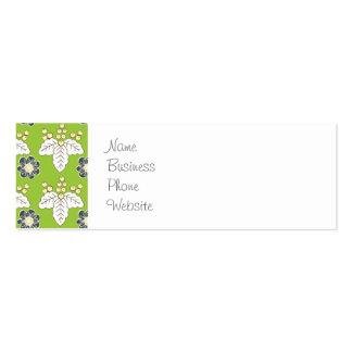 Papel de parede floral verde e roxo do primavera d cartões de visita