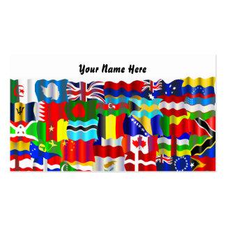 Papel de parede ondulado da bandeira, seu nome aqu cartao de visita