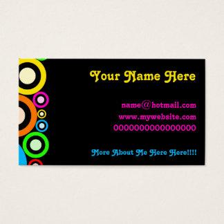 Papel de parede retro dos anéis cartão de visitas