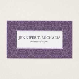 Papel de parede roxo luxuoso cartão de visitas