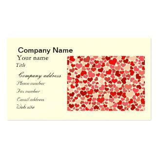 Papel de parede vermelho do teste padrão dos coraç cartões de visitas