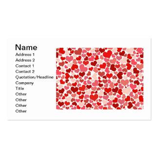 Papel de parede vermelho do teste padrão dos coraç modelos cartoes de visitas