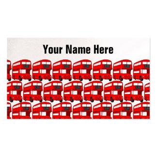 Papel de parede vermelho do viagem do ônibus do au cartões de visitas