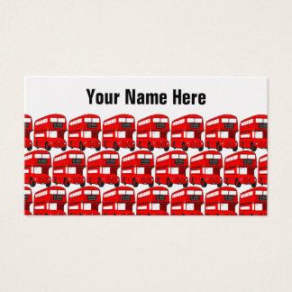 Papel de parede vermelho do viagem do ônibus do cartão de visitas