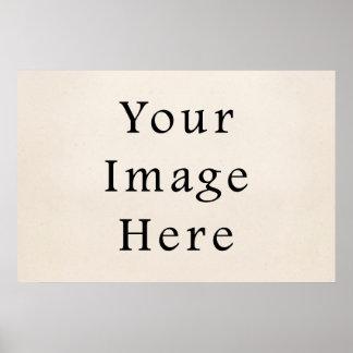 Papel de pergaminho branco bege de creme do vintag poster