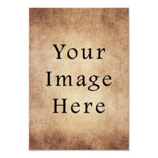 Papel de pergaminho claro envelhecido vintage de convite 8.89 x 12.7cm