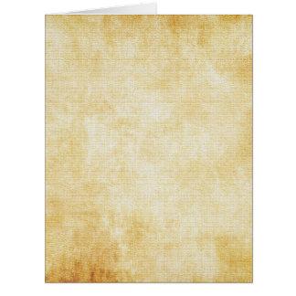 Papel de pergaminho do fundo | cartão comemorativo grande