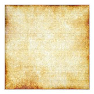 Papel de pergaminho do fundo | convite quadrado 13.35 x 13.35cm