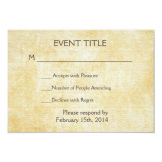 Papel de pergaminho do fundo | convite 8.89 x 12.7cm