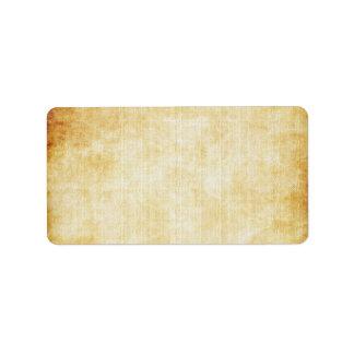 Papel de pergaminho do fundo | etiqueta de endereço