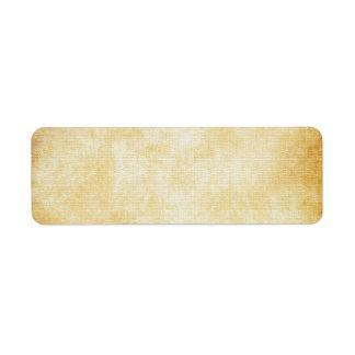 Papel de pergaminho do fundo | etiqueta endereço de retorno
