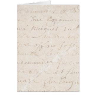 papel de pergaminho retro francês do roteiro do cartoes