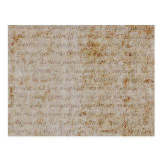 Papel de pergaminho velho do texto de Brown Tan do Cartão Postal
