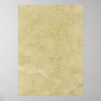 Papel de pergaminho velho poster