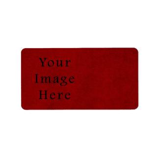 Papel de pergaminho vermelho do Natal do feriado d Etiqueta De Endereço