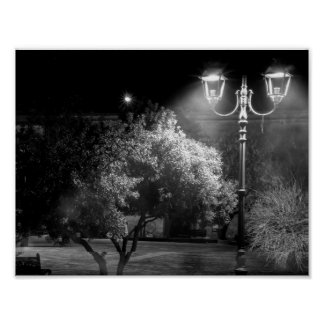 "Papel de poster Black&White ""luzes """