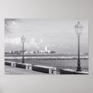 """Papel de poster Black&White """"passeio """""""