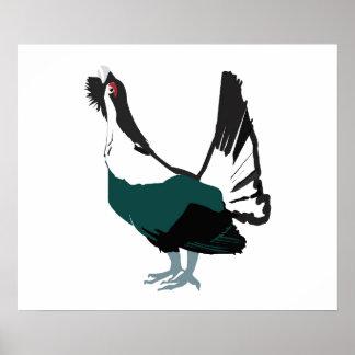Papel de poster do valor da arte do pássaro do