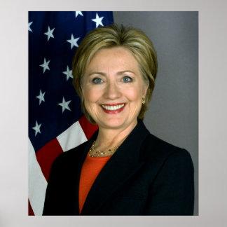 Papel de poster do valor de Hillary Clinton
