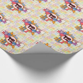 Papel De Presente 12o Divertimento do aniversário Checkered e design