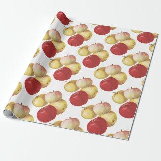 Papel De Presente 4 maçãs do vintage ilustraram o papel do presente