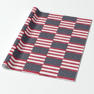 Papel De Presente 4o do Dia da Independência da bandeira americana