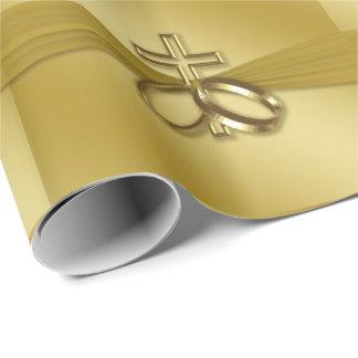 Papel De Presente 50th papel de envolvimento religioso do