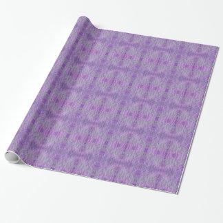 Papel De Presente 6' impressão emplumado lavanda do rolo do papel de