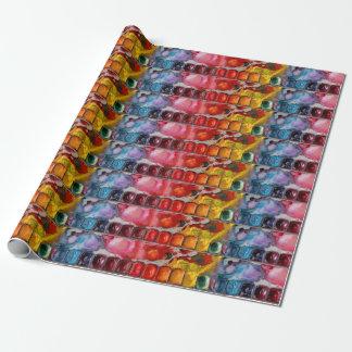 Papel De Presente A aguarela filtra a paleta colorida da multi cor