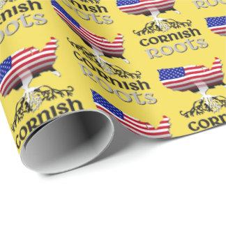 Papel De Presente A ascendência americana Cornish enraíza o papel de