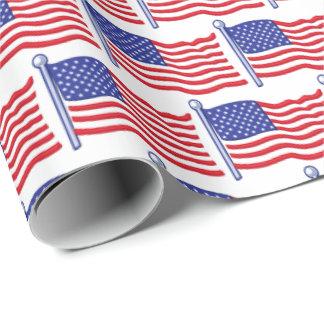Papel De Presente A bandeira patriótica telhou o papel de
