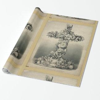 Papel De Presente A cruz da páscoa por Ives 1869