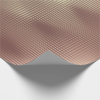 Papel De Presente A grade metálica do ouro cor-de-rosa do cobre