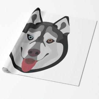 Papel De Presente A ilustração persegue o rouco Siberian da cara