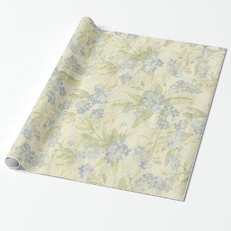 Papel De Presente A matéria têxtil floral do vintage acolhedor