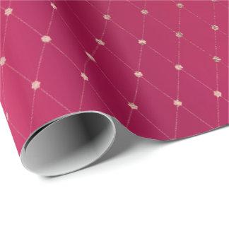 Papel De Presente A prata cor-de-rosa dos doces da framboesa