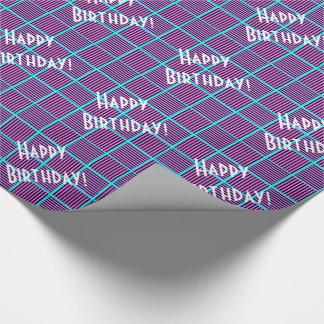 Papel De Presente A torta de mirtilo esquadra o aniversário