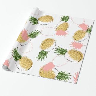 Papel De Presente Abacaxis & cones do pinho