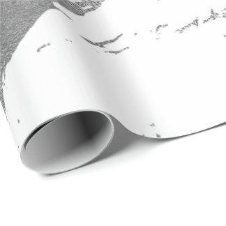 Papel De Presente Abstrato brilhante de prata de mármore cinzento