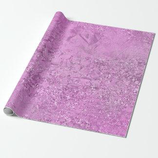 Papel De Presente Abstrato metálico de vidro roxo da lavanda